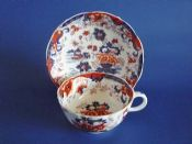 Large Minton 'Amherst Japan' Pattern Breakfast Cup and Saucer c1840
